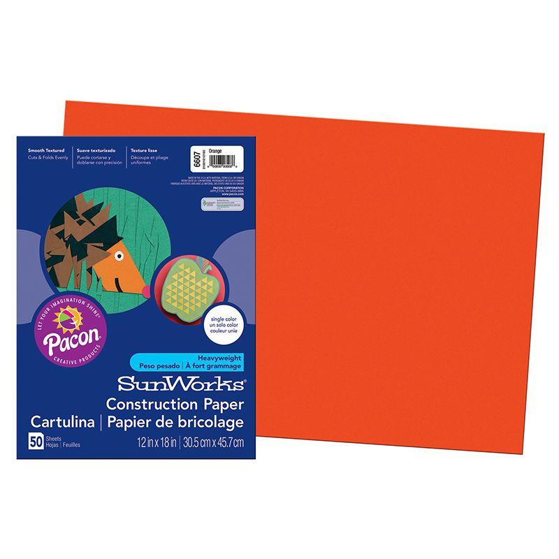 Construction Paper Orange 12X18