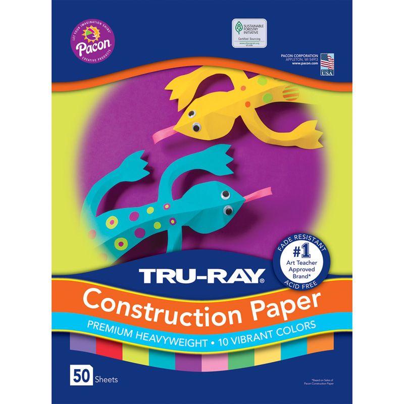 Construction Paper 10 Vibrant Colrs 50 Sheets
