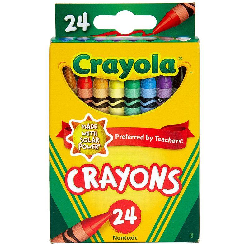 Crayola Crayons 24 Color Peggable