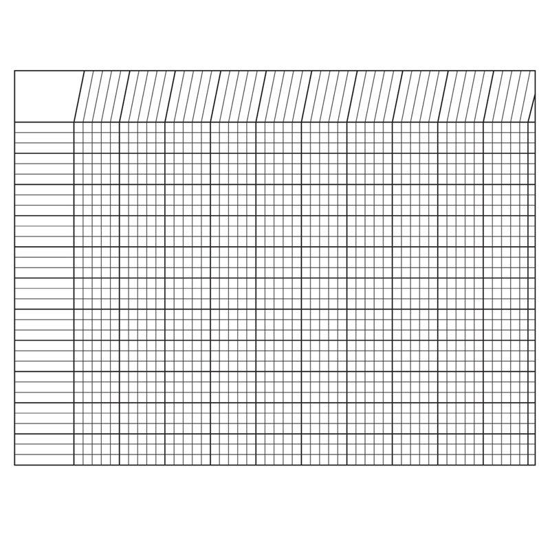 Incentive Chart Horizontal White 28 X 22