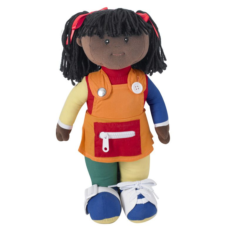 Learn To Dress Doll Black Girl