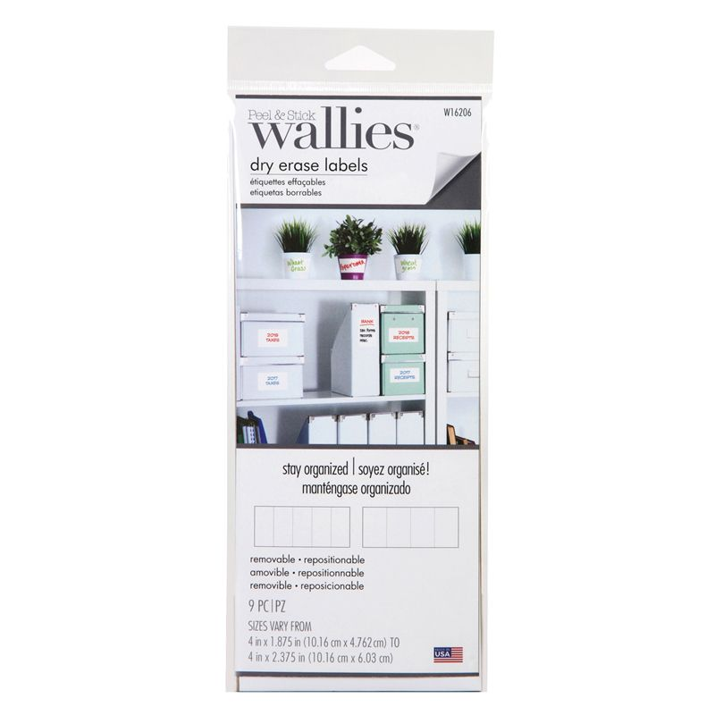 Rectangle Labels Wallies Dry Erase