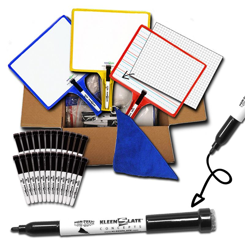 Set Of 24 Customizable Whiteboards Handheld With Clear Dry Erase
