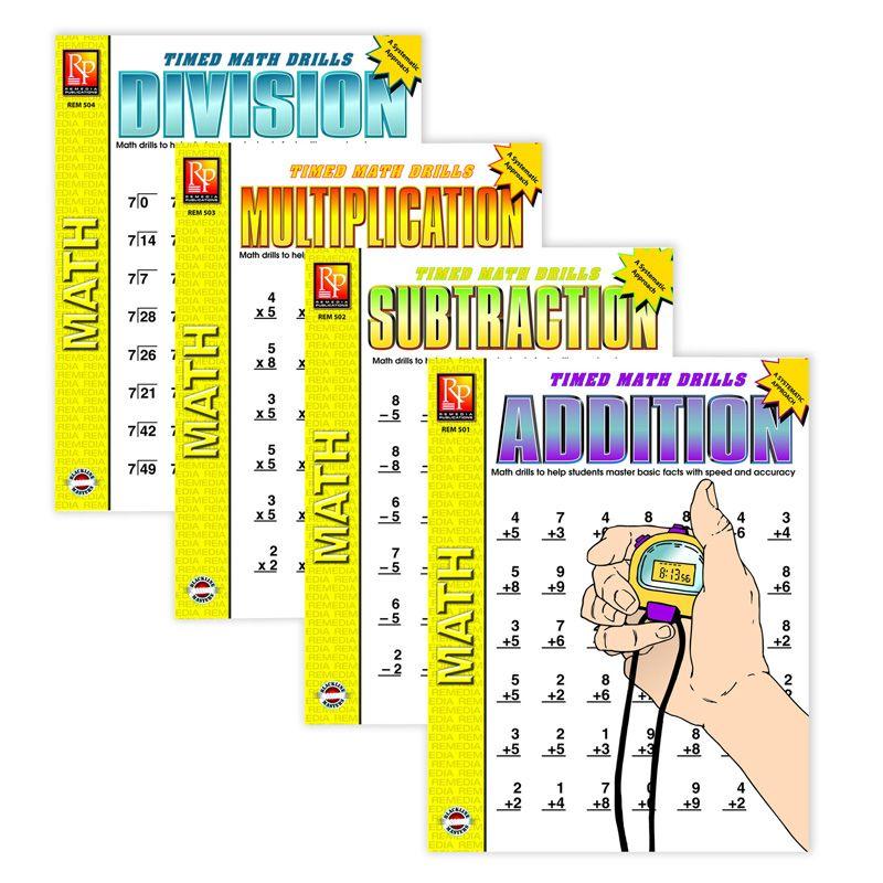 Timed Math Drills 4-Set Books