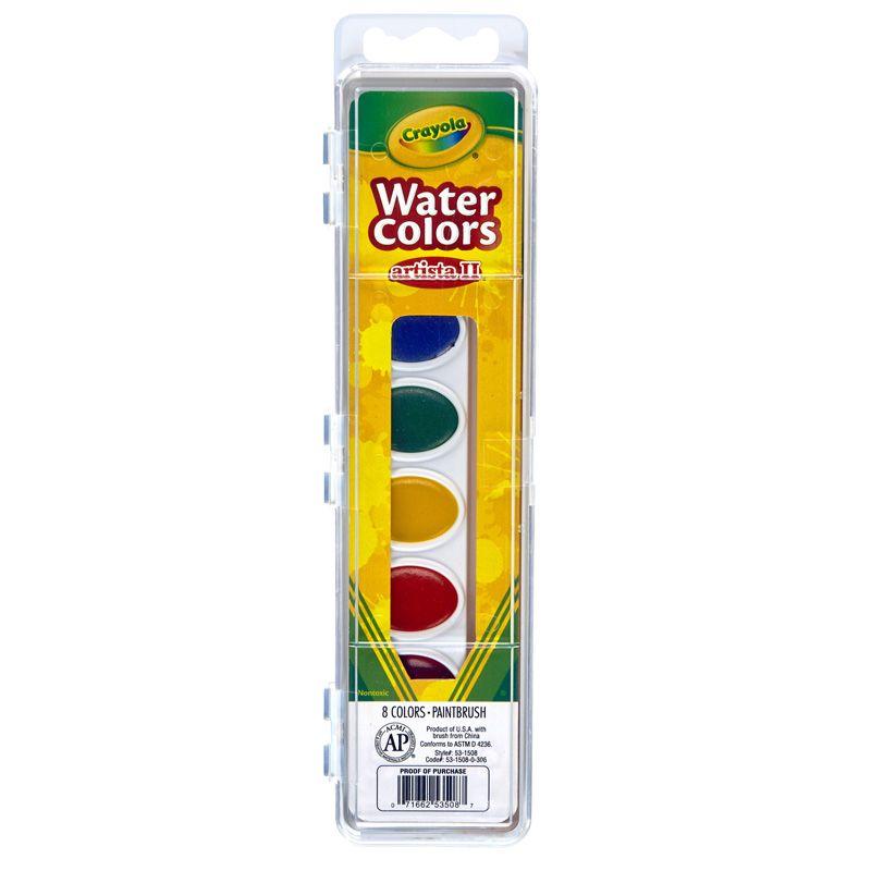 Artista Ii 8 Watercolors W/Brush