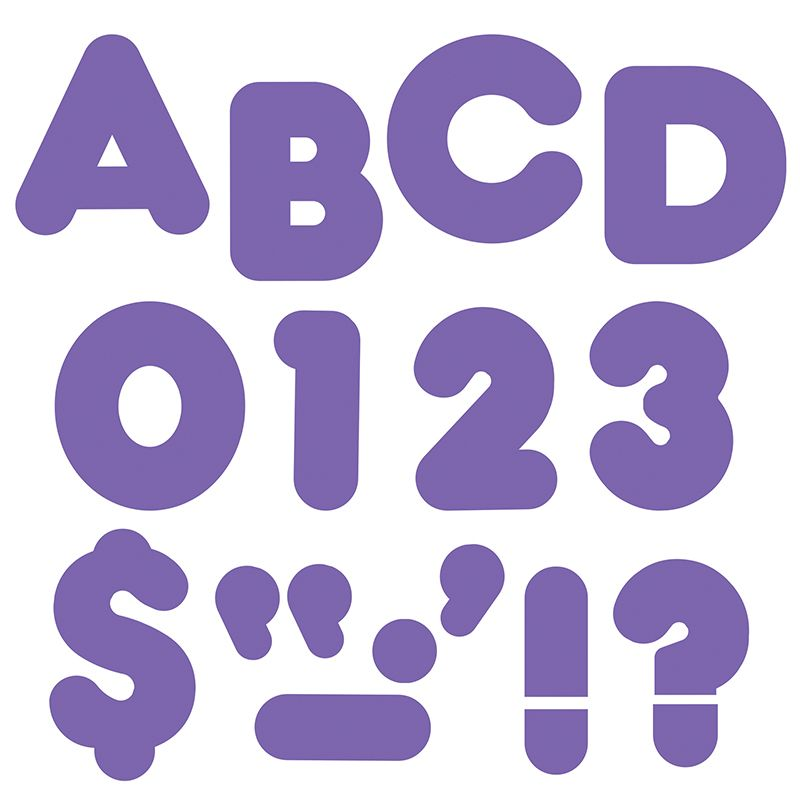 Ready Letters 2 Inch Casual Purple