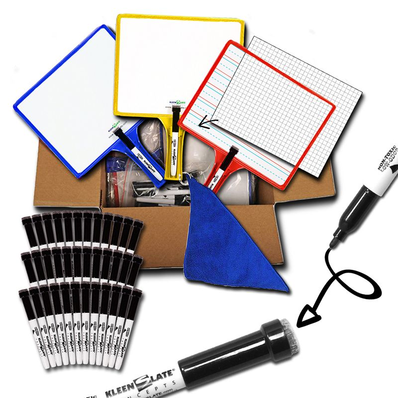 Set Of 36 Customizable Whiteboards Handheld With Clear Dry Erase