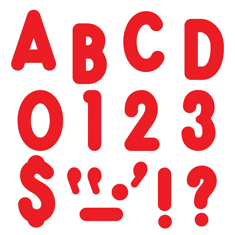 Red Ready Letters 7In Uppercase Billboard Font
