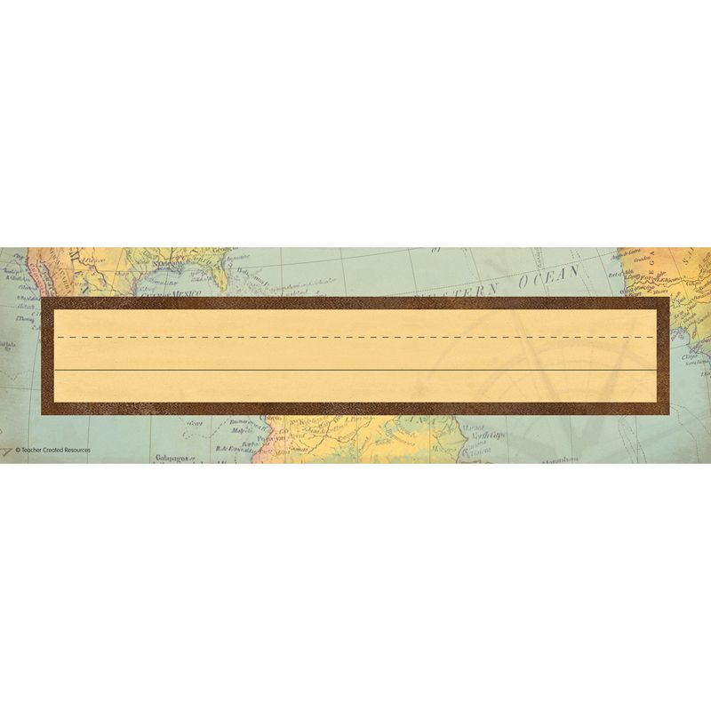 Travel The Map Flat Name Plates