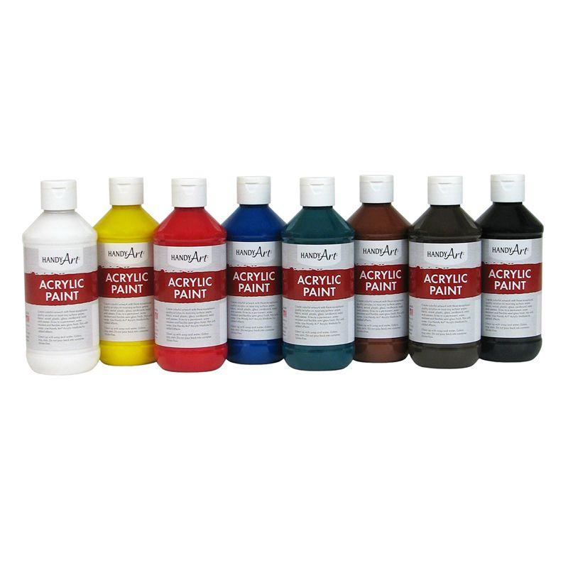 Acrylic 8oz Paint Primary Set Of 8