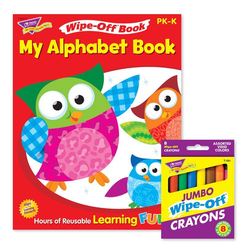 Alphabet Reusable Book & Crayons