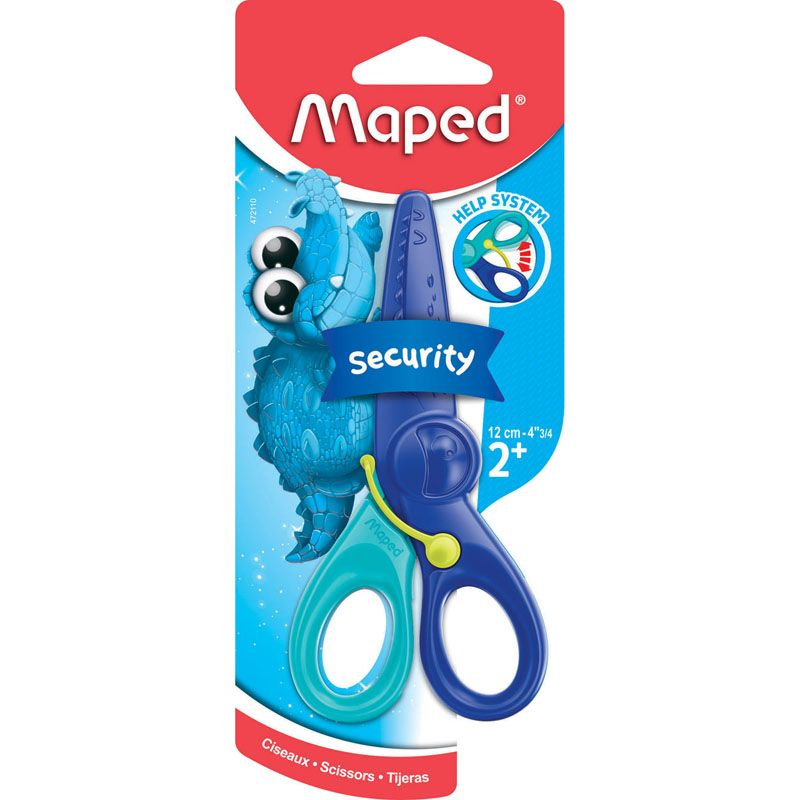 Spring Assisted Safety Scissors Plastic Kidicut