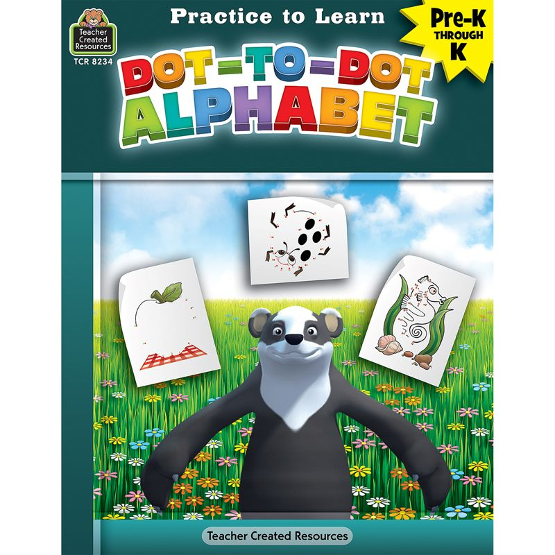 Pract To Learn Dot To Dot Alphabet