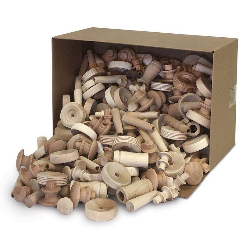 Natural Wood Turnings Assrtd Shapes