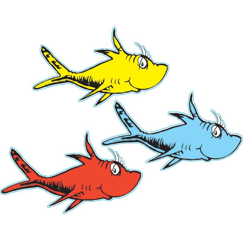 Dr Seuss One Fish Two Fish Paper Cut Outs