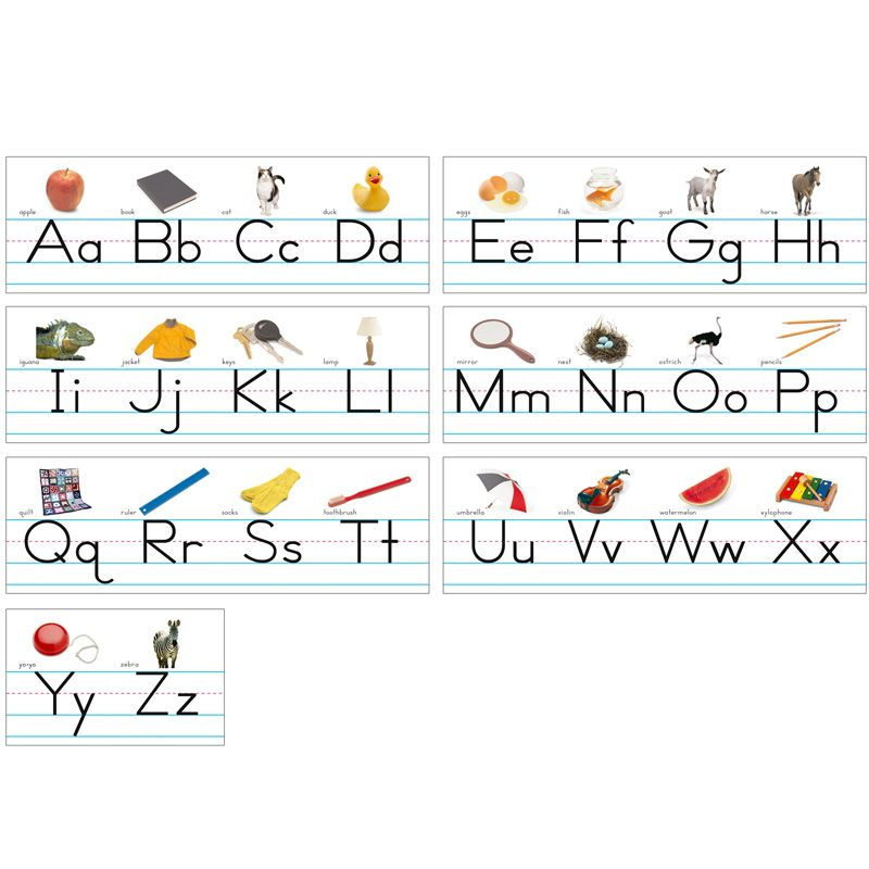 Alphabet Lines Traditional Manuscript