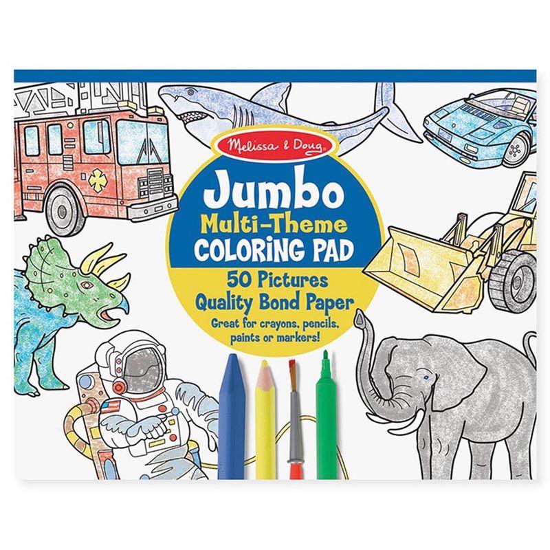 Jumbo Coloring Pad Blue 11 X 14