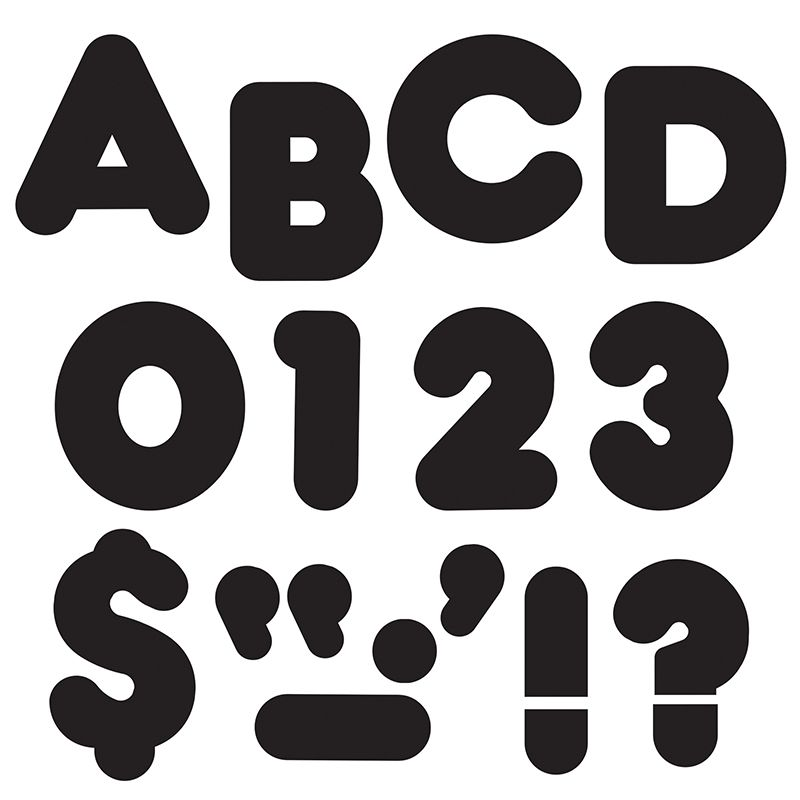 Ready Letters 2 Inch Casual Black