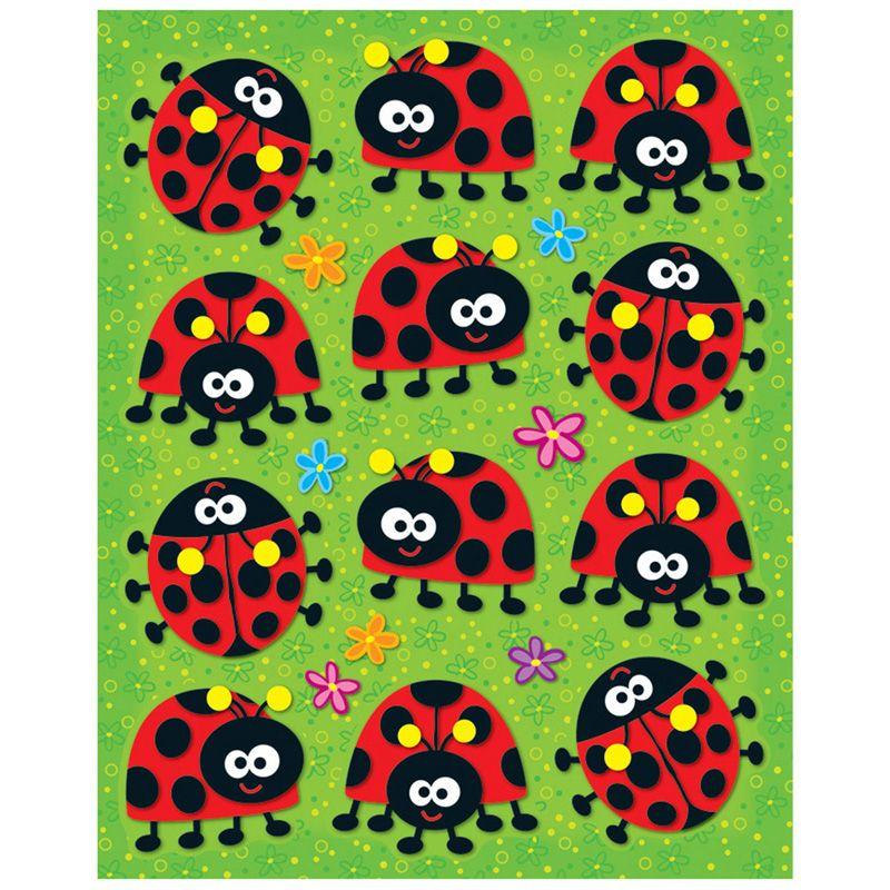 Ladybugs Shape Stickers 72Pk