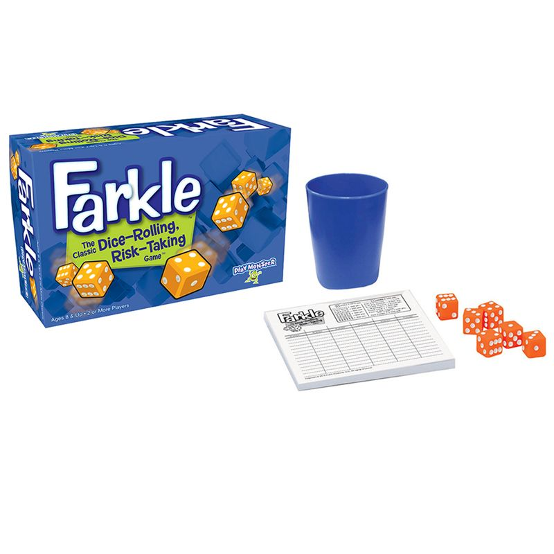 Farkle Dice Rolling Risk Taking Game