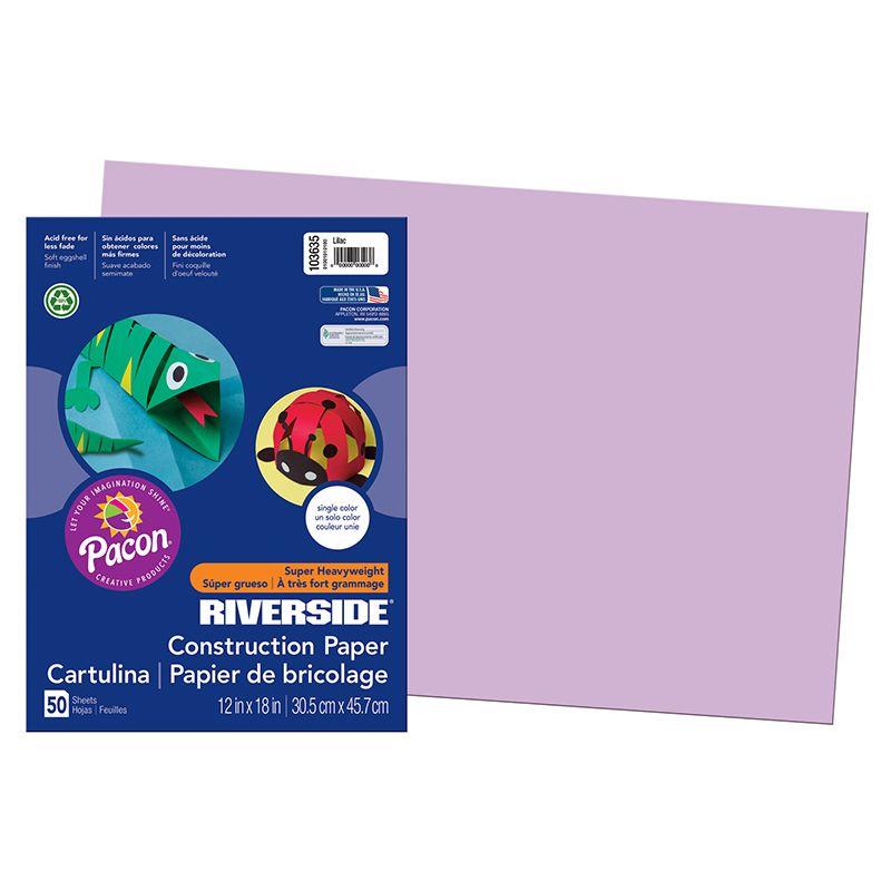 Riverside 12X18 Lilac 50 Sht Construction Paper
