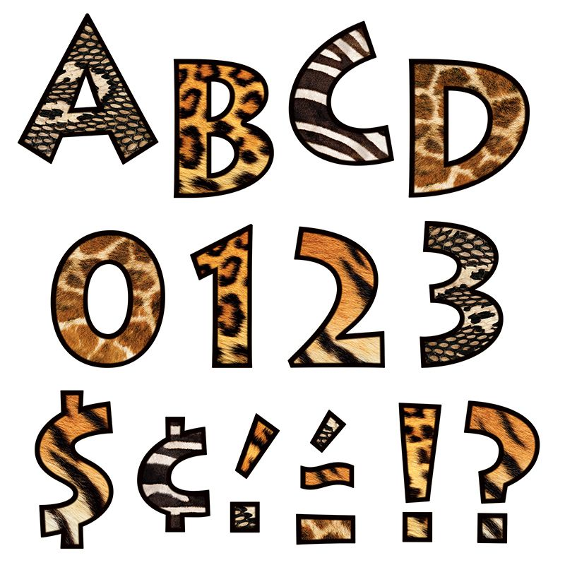 Animal Prints 4 Inch Venture Ready Letters