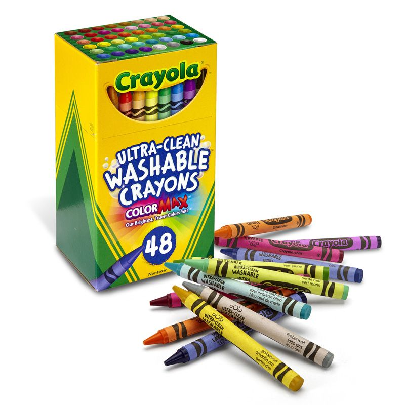 48 Ct Ultra-clean Washable Crayons Regular Size