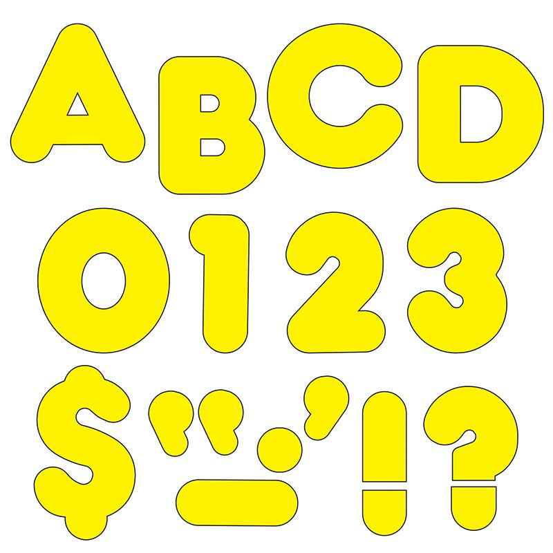 Ready Letters 2 Inch Casual Yellow