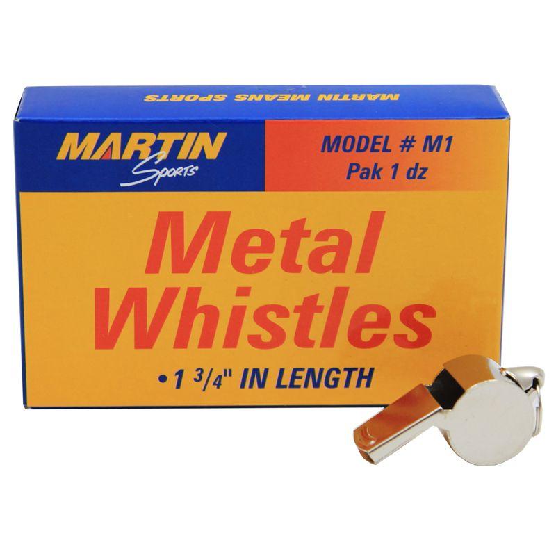 Whistle Small Metal 12/Pk 1-3/4l