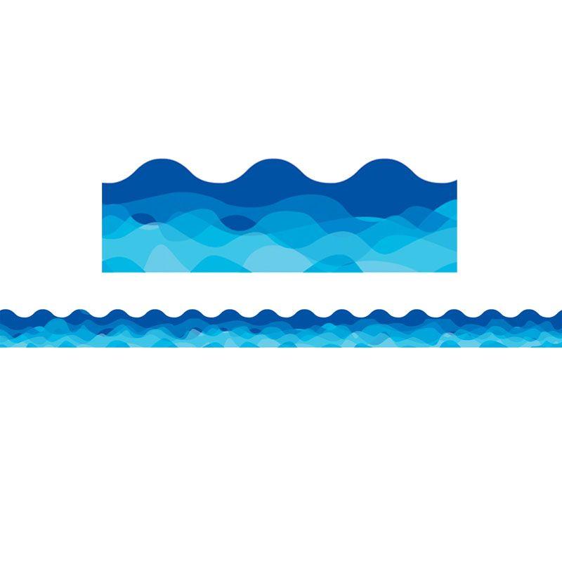Waves Of Blue Wavy Border