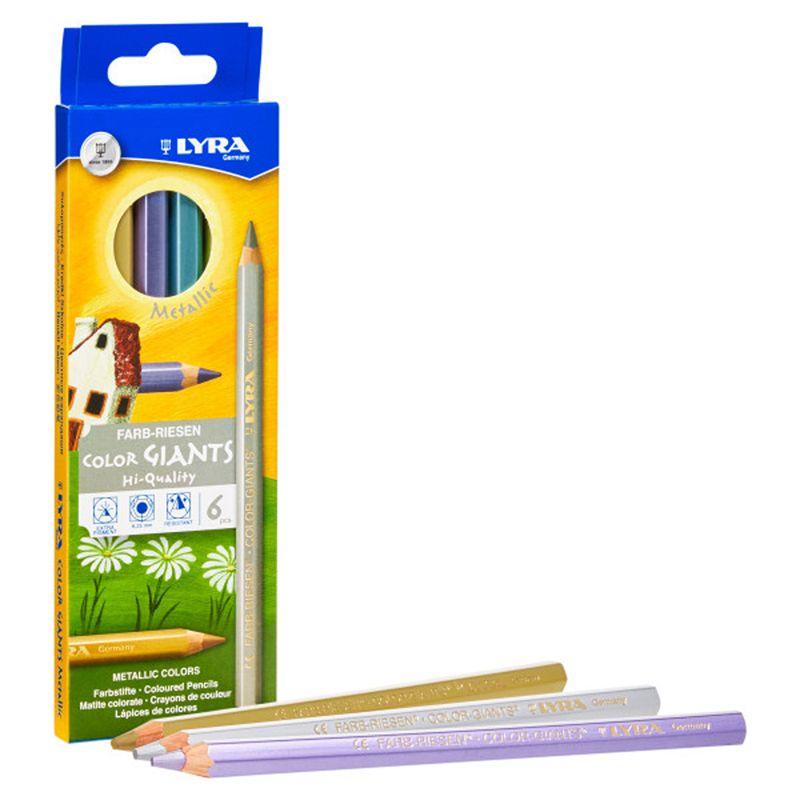 Giant Colored Pencils Metallic 6pk Lyra Color