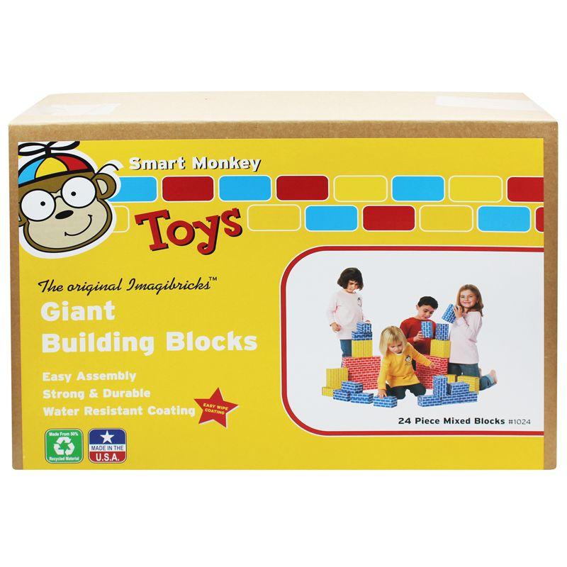Imagibricks Giant Building 24Pc Set Blocks