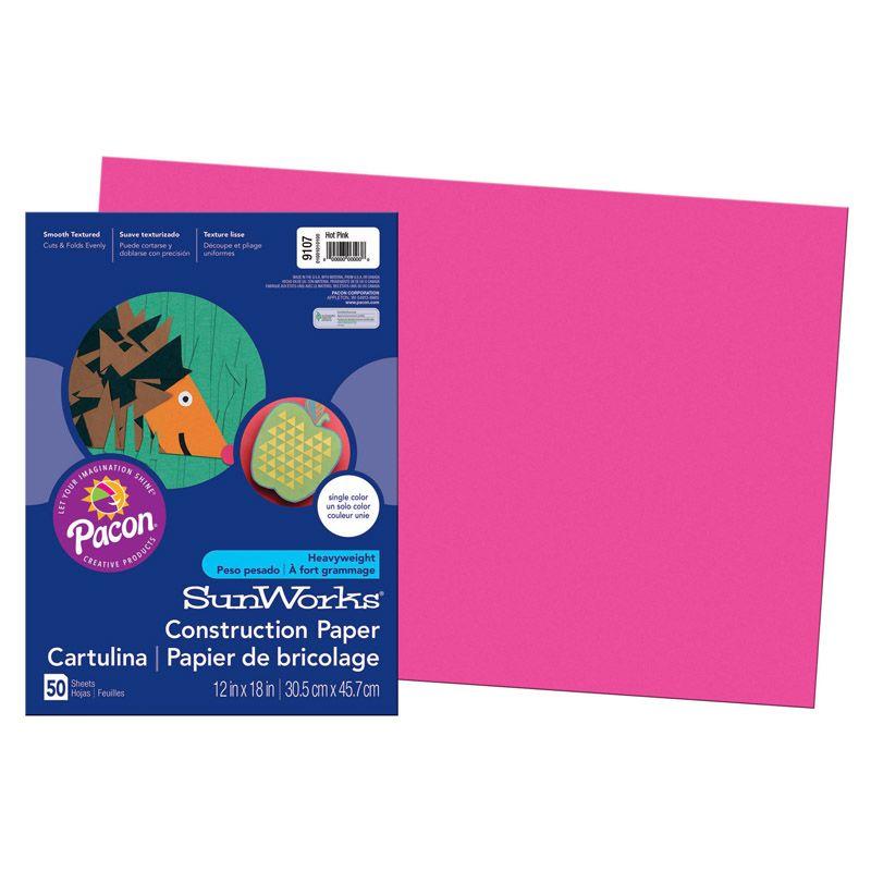 Sunworks 12X18 Hot Pink 50Ct Construction Paper