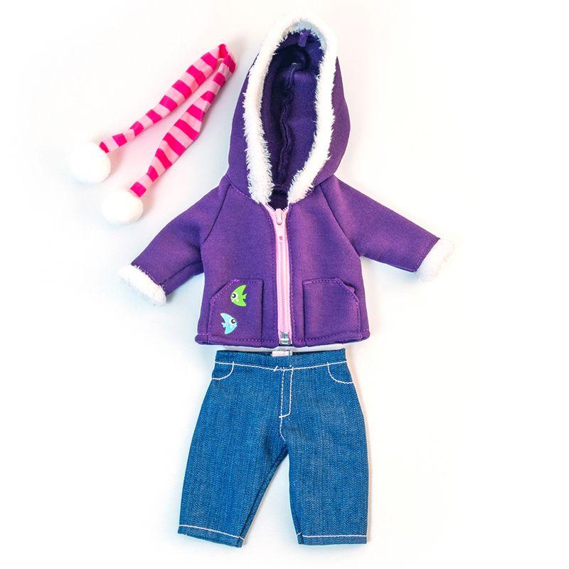 Doll Clothes Cold Weather Purple Fleece Set