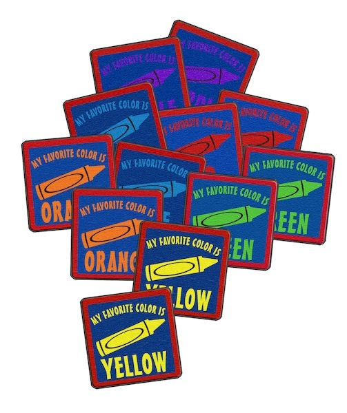 """My Favorite Color (6' Rd And Set Of 12 Sq.) 6' & 16""""x16"""""""