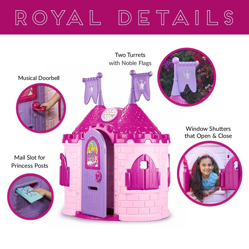 Junior Princess Palace Playhouse, Indoor/outdoor Pink Castle