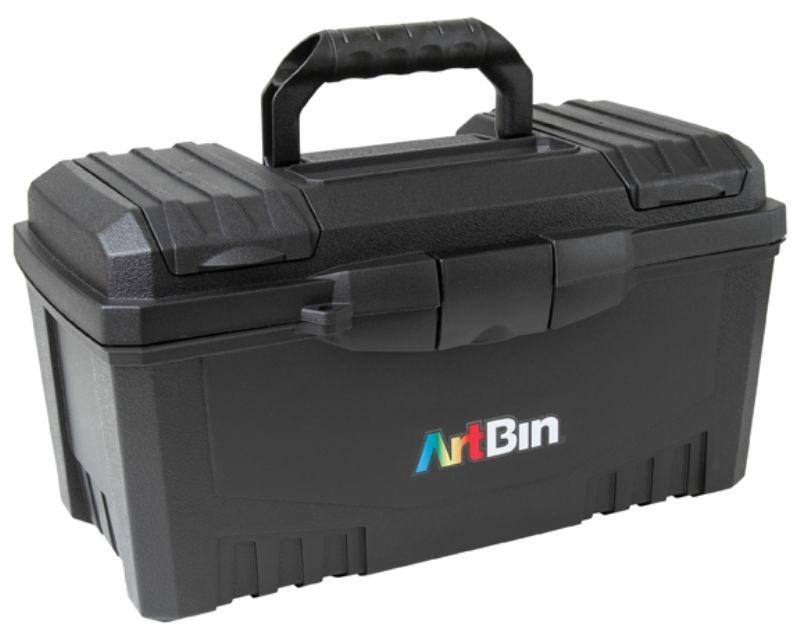 "17"" Twin Top Supply Box- Black"