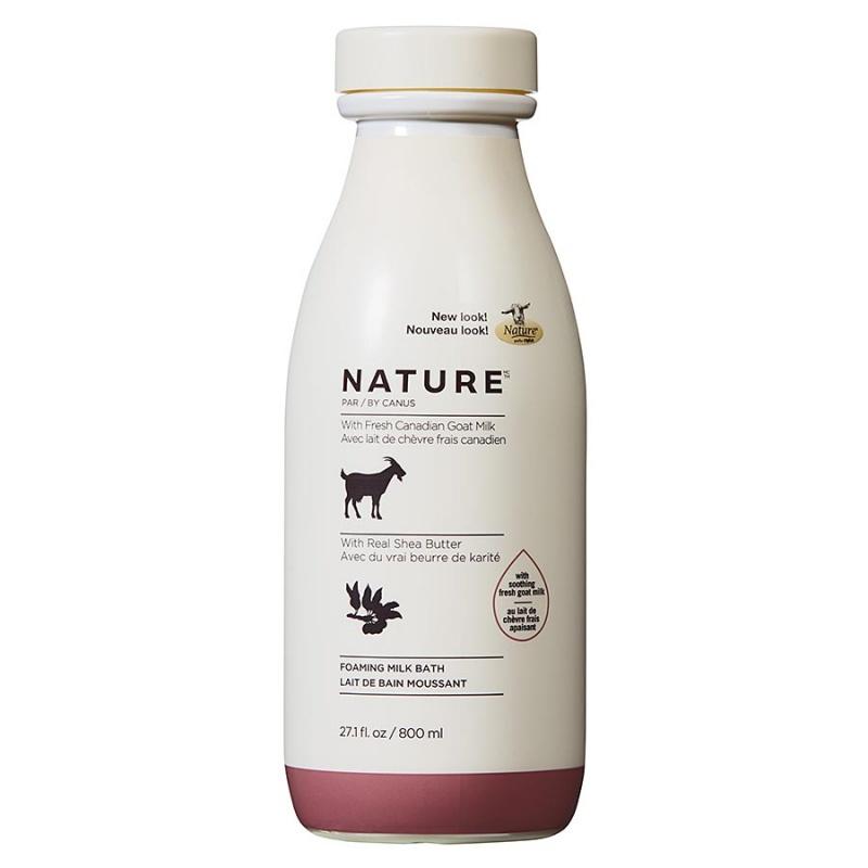 Nature By Canus Shea Butter Foaming Milk Bath With Fresh Goat's Milk 27.1 Fl. Oz