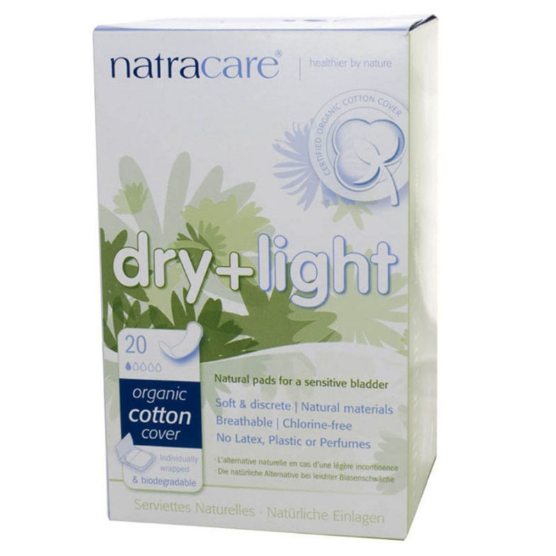 Natracare Dry + Light Incontinence Pads 20 Count