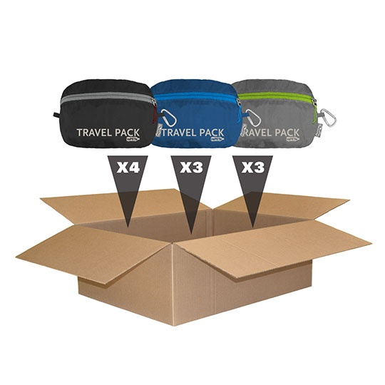 Chicobag Reusable Repete Assorted Colors 10 Pack Travel Packs 10 X 17 X 6