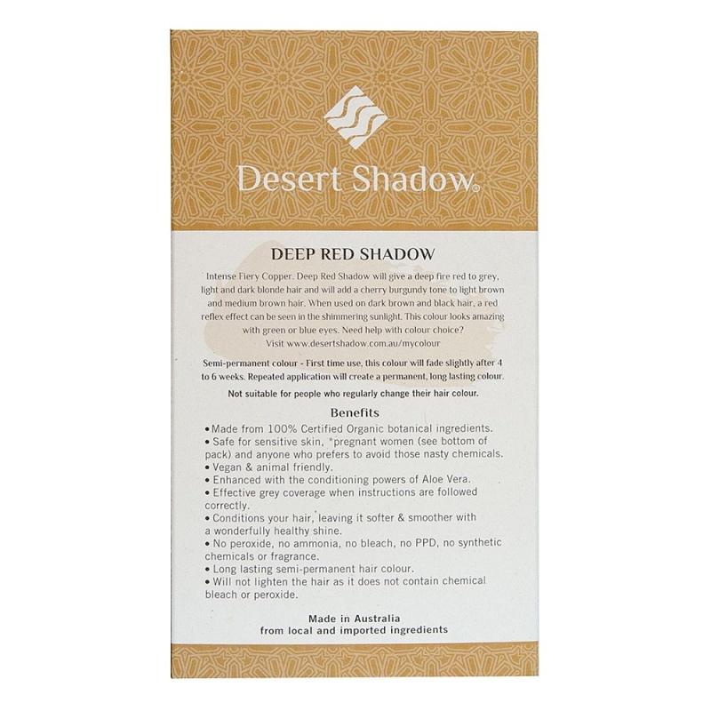 Desert Shadow Deep Red Shadow Deep Copper Red Organic Hair Color 3.5 Oz