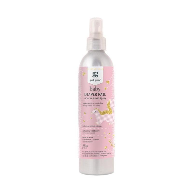 Grab Green Refreshing Wildflowers Diaper Pail Odor Removal Spray 5 Fl. Oz