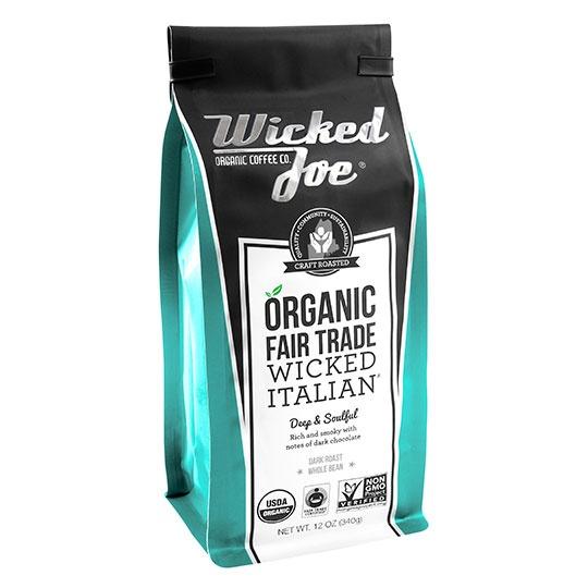 Wicked Joe Coffee Wicked Italian Whole Bean Coffee 12 Oz.