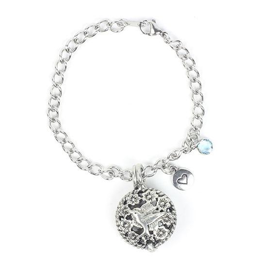 Humming Bird Diffuser Bracelet 7.5 Chain