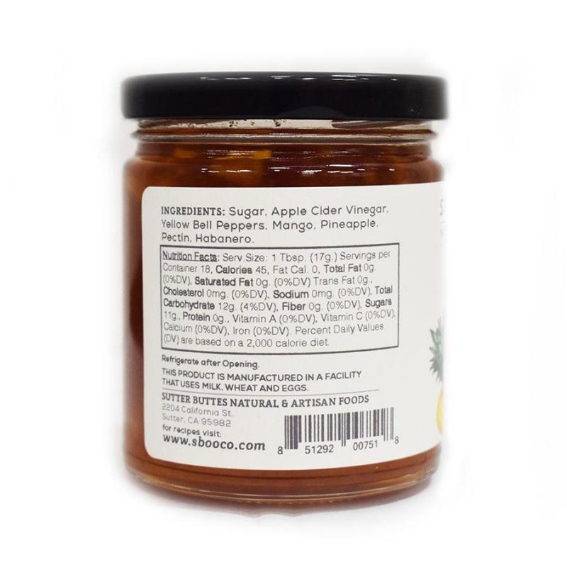 Sutter Buttes Pineapple Mango Habanero Jam 11.25 Oz