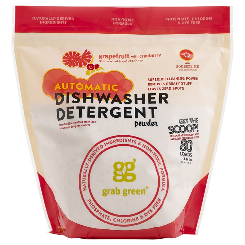 Grab Green Grapefruit With Cranberry Auto Dishwasher Powder With Scoop 80 Loads