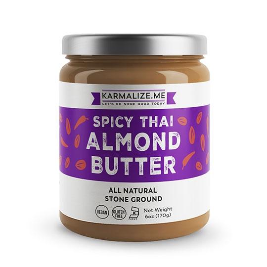Karmalize. Me Spicy Thai Almond Butter 6 Oz