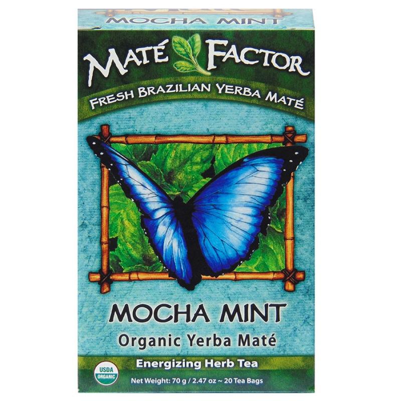 Mat&eacute Factor Mocha Mint Yerba Mate Tea 20 Tea Bags