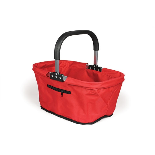 Collapsible Red Market Basket 17 X 11 X 9