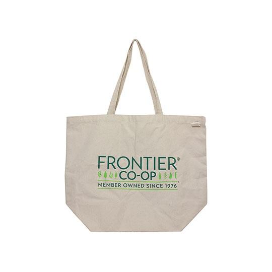 E C O B A G S Every Day Tote Bag With Frontier Co-Op Logo 19 X 15 1/2